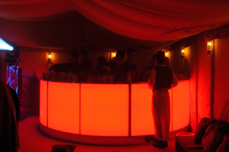 arabian props, bar unit hire, chill out furniture hire, oxfordshire, gloucestershire