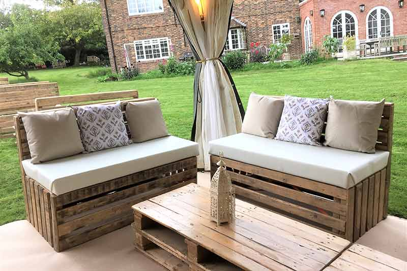 pallet furniture hire, Party tents, arabian tent hire, event hire, arabian tents, marquee hire, oxfordshire, gloucestershire, london, garden party, party tent hire