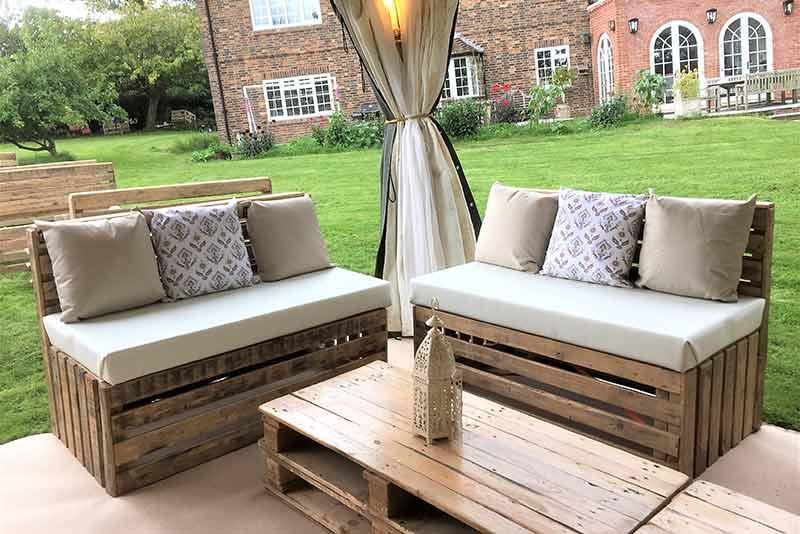 pallet furniture hire, Party tents, arabian tent hire, event hire, arabian tents, marquee hire, oxfordshire, gloucestershire, london, garden party, party tent hire