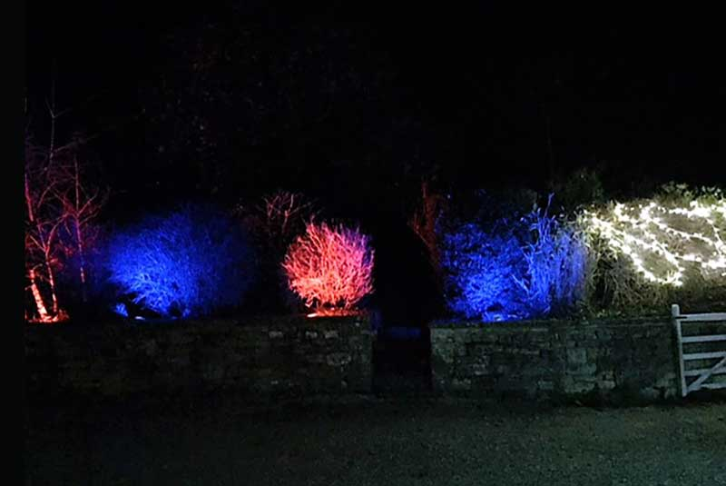 event lighting, uplighters, RGB LED, marquee hire, garden party tents, outdoor