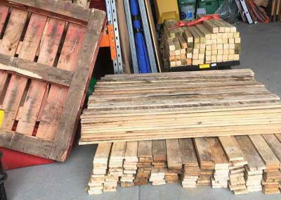 pallet furniture hire, stripped pallets