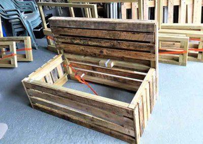 pallet furniture hire, bench, wedding, furniture, build