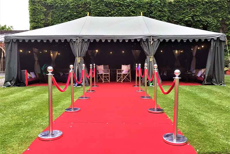 Party tent hire, hollywood marquee theme event, oxfordshire, gloucestershire