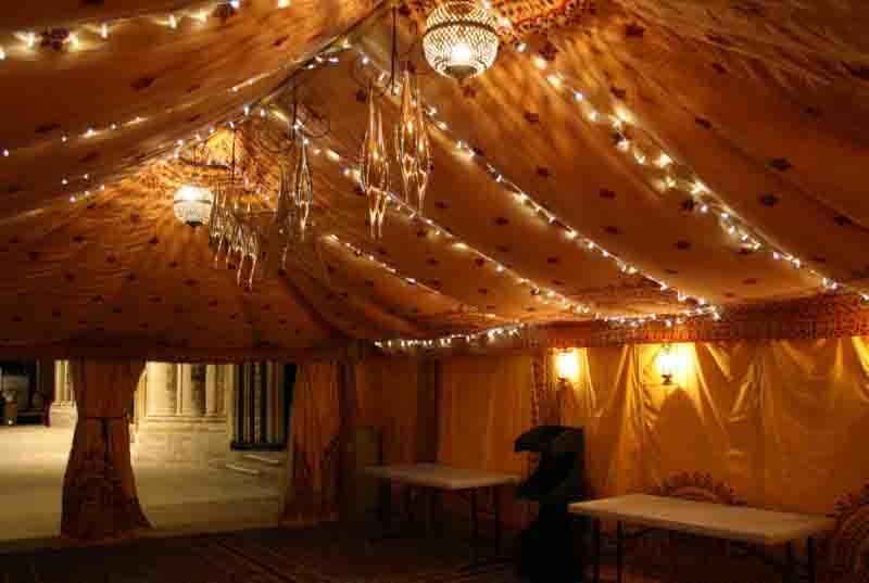 party tent hire, saffron lining, arabian tent, oxfordshire, gloucestershire