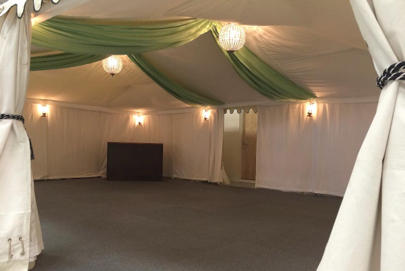 party tent hire, White lining, boutique marquee, oxfordshire, gloucestershire