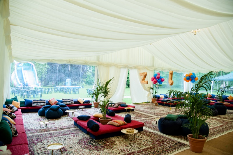 Persian carpets hire, rugs, marquee hire, Bedouin tents